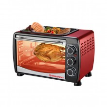 WESTPOINT OVEN TOASTER & ROTISSERIE WITH HOT PLATE 24Ltr (WF-2400-RD)